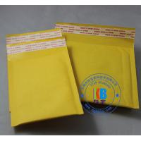 Quality Safety packages for phone stationary gold color self sealed yellow Kraft bubble mailers 20cm*25cm for sale