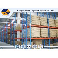 Buy High Capacity Storage Pallet Warehouse Racking Metal Display With Frame Barrier at wholesale prices