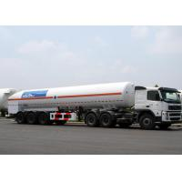 Quality 52600L LNG Tank Truck Trailer Tri Axles For Liquid Natural Gas Transport for sale