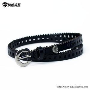 China Ladies Leather Belt Punching Holes-JDLA13084,Leather Belt Factory,Belt OEM on sale