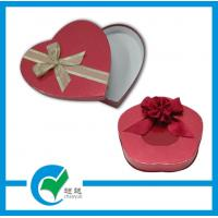 Quality Red Heart Shaped Gift Cardboard Jewellery Boxes with Glossy / Matt Lamination for sale