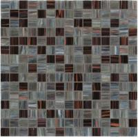 Grey color low-key luxury design gold line glass mosaic mix pattern