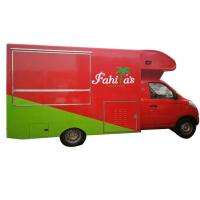 Quality Awesome Petrol Mobile Kitchen Truck , Mobile Fast Food Van Gasoline Fuel Type for sale