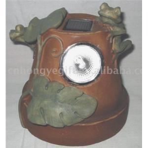 Quality Polyresin Solar Powered Lights (Frog Design ) for sale