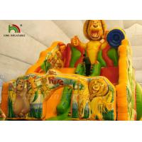 Quality Colorful Inflatable Dry Slide Jungle Wild Animal Digital Printed for sale