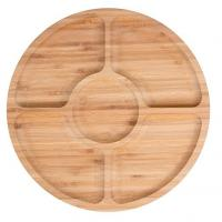 China Bamboo wooden serving platter fruit snack tray on sale