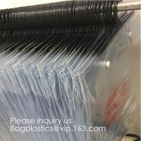 Quality Poly Clear Plastic Hanger Covers Dry Cleaning Bags On Roll For Shirt,Hanger hook plastic bags zipper bag manufacturers for sale