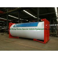 Quality Steel 20ft LPG Storage Tanks Container With Pump , LPG Skid Station ASME Certificate for sale