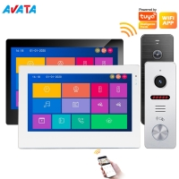Quality Ahd Smart Phone Tuya Video Intercom System Color Video Doorbell Villa Video Door Phones Remote Unlock for sale