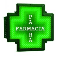 Quality Pure Green Pharmacy Cross Sign Outdoor 50x50cm Advertising Parafarmacia for sale