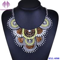 Quality Bohemian Tribal Colorful Choker Statement Chunky Collar Beads Necklace Pendant for sale