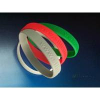 Quality Silicone Wrist Band - Embossing Words for sale