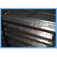 Quality 65mn Steel Mining Screen Mesh , Hooked Vibrating Rock Screen Galvanized 1.5m X 2m for sale