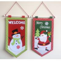 Quality Merry Christmas  hanging flag for sale