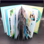 Quality Art Paper Saddle Stitched Booklet , Varnishing Surface Saddle Stitched Brochure for sale