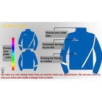 Quality Customized 100 Cotton Contrast sweatshirt Mens Sport Tracksuits , Blue for sale