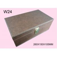 Quality Customized Brown Wooden Cosmetic Packaging Box, Wood Gift Boxes With Logo for sale