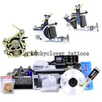 Quality NEW TATTOO KIT 3 GUN MACHINE COMPLETE POWER NEEDLE TIPS CD INK CUP for sale