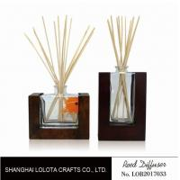 Quality Wooden Bottom Based Aroma Reed Diffuser , Home Scent Reed Diffuser Certificate for sale