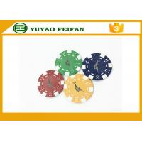 Quality Casino Borad Game 11.5 Gram Customised Poker Chips With Foil Stamping Sticker for sale
