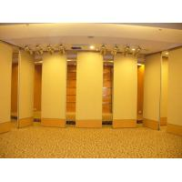 China Removable Banquet Hall Sliding Partition Walls , Melamine Surface Wood Interior Room Dividers on sale