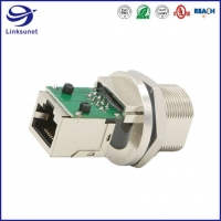 Quality RJ45 IP68 8pin Waterproof Circular Connectors for Motion Control wire harness for sale