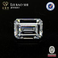 China AAA/AAAAA Grade CZ Stone White Cubic Zirconia With Emerald Step Cut In Size 14*10mm on sale