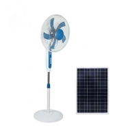 Quality AC DC 120cm Height 16'' Solar Rechargeable Fan SAA Metal Blade for sale
