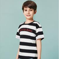 Quality Two-tone Texture T-Shirt Kids' Clothes Short Sleeve Cotton Boys Clothing for sale