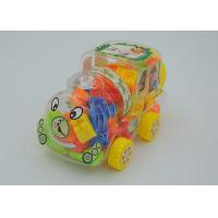 China Children's Building Blocks Educational Toys In Train Shaped Storage Box 4 Wheels on sale