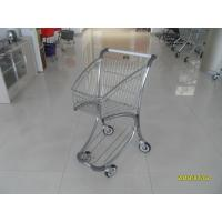Quality Zinc Plated PPG Powder Coating  Market Shopping Trolley With Elevator Casters for sale