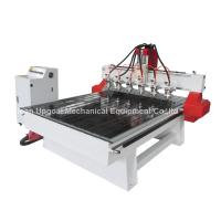 Buy 6 Spindle Heads Wood Relief CNC Router with 1300*1800mm Working Area Servo Motor at wholesale prices