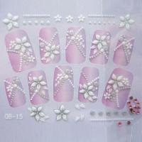 Quality Fashionable and Beautiful 3D Nail Stickers, Nontoxic and Eco-friendly, OEM Orders Welcomed for sale
