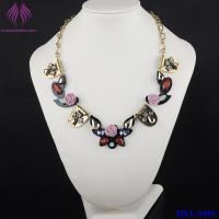 Quality Fashion Crystal Flower Necklace cute bead charm Chain Necklace for sale