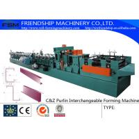 Quality 415V C Z Purlin Roll Forming Machine For 80-300mm C&Z Steel Purlin for sale