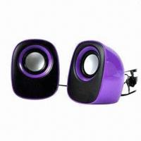 Quality 2.0-channel Computer Speakers with USB Power Supplier and 89dB S/N Ratio for sale