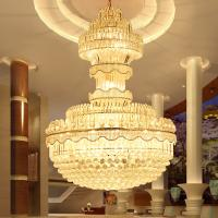 Quality Traditional crystal pendant light large hotel chandelier handmade lamps (WH-NC-07) for sale