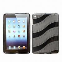 Quality TPU Cases for Mini iPad with Wave Texture, Many Colors Available for sale