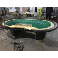 China Professional MDF Majestic Casino Baccarat Table Custom Poker Table With LCD Screen wholesale
