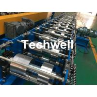 China K Gutter, Round Gutter Cold Roll Forming Machine With Hydraulic Cutting PLC Control on sale