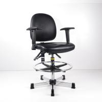 Buy High Ergonomic Ergonomic Laboratory Stools With Foot Ring / Conductive Armrest at wholesale prices