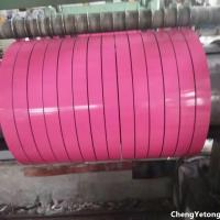 Quality Pink Color Coated Stainless Steel Strip Coil Organic Coating Thickness 20-45μM for sale
