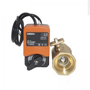 Quality 24V 0-10V/4-20mA Electric Motorized Ball Valve , Actuator Proportional Control Ball Valve for sale