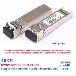Quality 10G Optical SFP Module DWDM Dense Wavelength Division Color C17-C61 for sale