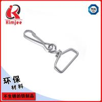 5/8 inch silver plate metal bag clips for lanyards wholesale