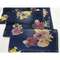 """Buy cheap High quality wholesale 62/63"""" flowers printed cotton polyester denim fabric from wholesalers"""
