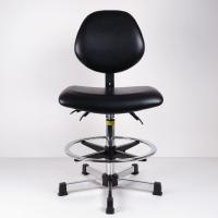 Quality High Bench Height ESD Task Chair Lumbar Support Tilt Adjustment Back And Seat for sale