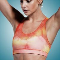 Quality Sublimated Fashion Womens Yoga Wear Tops with Chafe Resistant , Sexy Workout for sale