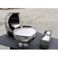 China Mirror Polished Abstract Metal Sculpture Hand Art Artificial Style For Home Decoration on sale