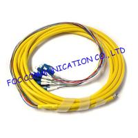 Quality Fan Out LC / UPC pigtail fiber optic 12 Core With High Tensile Strength for sale
